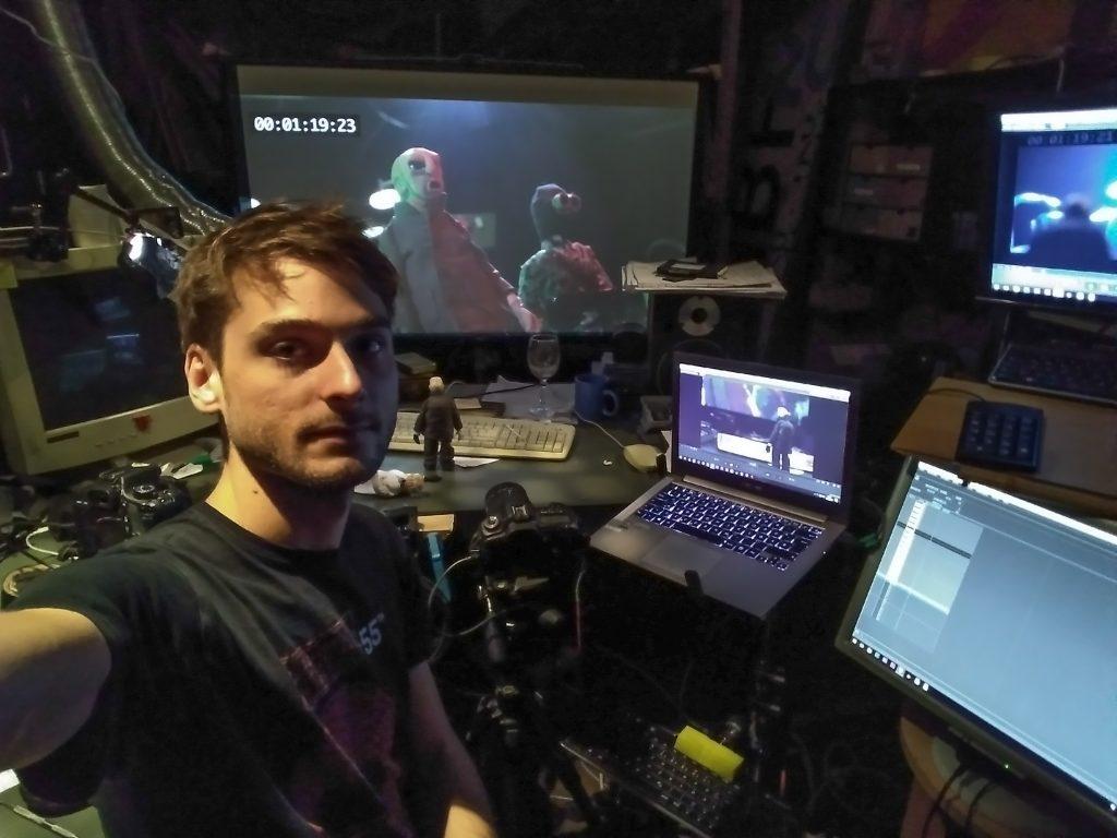 selfie projektorraum